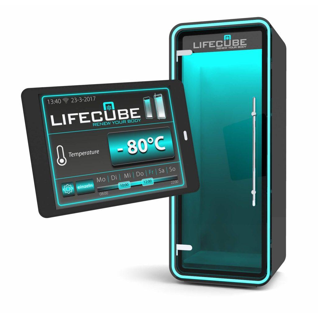 Lifecube Kältekammer Einzelkabine mit App