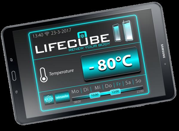Lifecube Kältekammer App